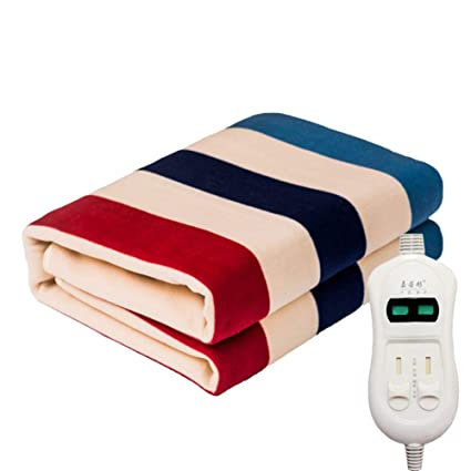 Manta eléctrica, doble control a rayas de temperatura dual, seguridad, manta de agua