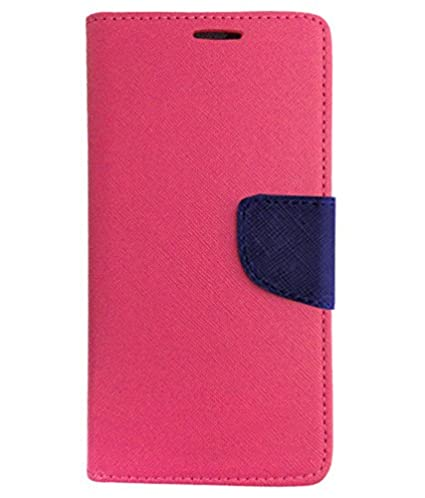 save off 5b223 c456e Avzax Micromax Q372 Unite 3 Flip Cover with Magnetic Flap - Pink