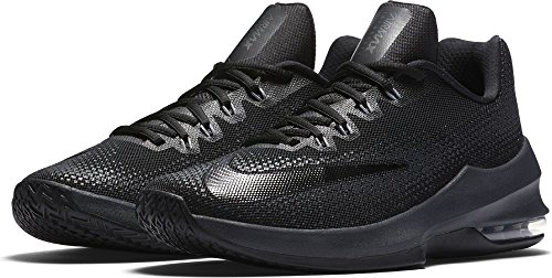 timeless design ca202 6a549 Nike Men s Air Max Infuriate Low Basketball Shoe Black Anthracite Dark Grey  Size 9