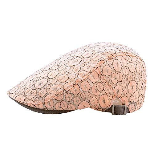 UAOOK Summer Lace Print Breathable Adjustable Men Women Cotton Newsboy Ivy Cabbie Driving Hat Lawn Bowls Umpire Duckbill Hat Visor Sun Hat Mesh Running Sport Casual Breathable Beret Flat Gift Cap