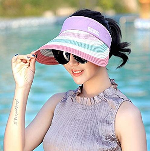 Khaki Lftshop Summer Outdoor Straw Hat Anti UV Sun Hat Sunscreen Beach Cap Traveling
