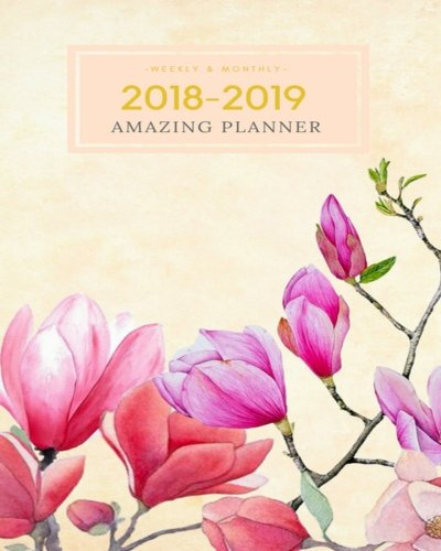 2018-2019 Amazing Planner Weekly & Monthly: Calendar Schedule Organizer and Agenda Journal Notebook With Inspirational Quotes And Daily Checklist ... Illustration) (Journal Planner) (Volume 1)