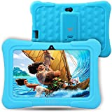 [Upgraded] Dragon Touch Y88X Plus 7 inch Kids Tablet, Kidoz Pre-Installed with Disney Content (more than $80 Value) (A.Blue)