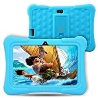 [Upgraded] Dragon Touch Y88X Plus 7 inch Kids Tablet, Kidoz Pre-Installed with Disney Content (more than $80 Value) - Blue