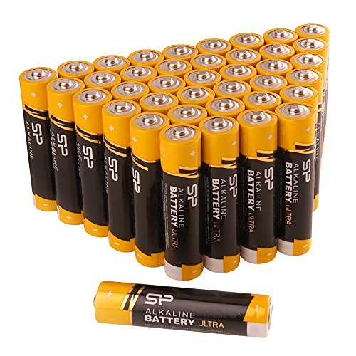 Silicon Power AAA Household Alkaline Batteries 40 Count, Bulk-Packaging