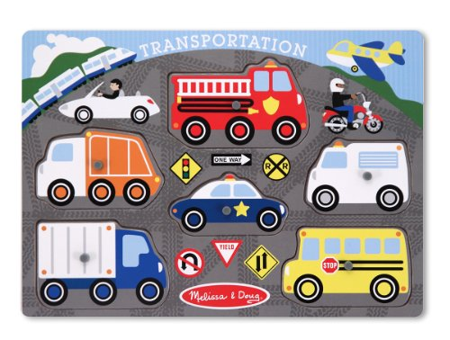 Melissa Doug Transportation Vehicles Wooden