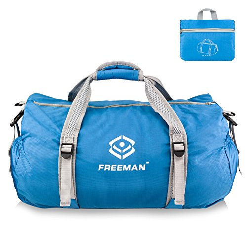 Freeman Foldable Duffel Bag for Sports,Gym,Travel,Lightweight Waterproof Gym Bag