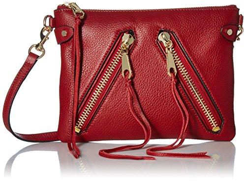 Rebecca Minkoff Moto Jon Crossbody, Deep - Handbag Leather Deep Red