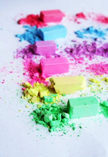 Neon Hair Shimmer Chalks Set Of 6 Colors Lasts Up To