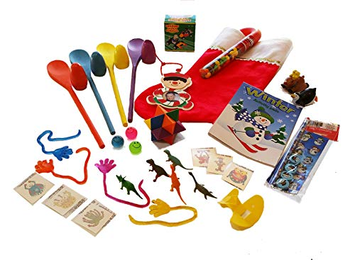 Pre-Filled Stuffed Christmas Stocking for Boys 5-10 Includes 35 Fun Items for Hours of Fun! ()
