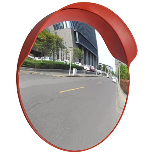 Anself Convex Security Mirror PC Plastic Orange 24'' Outdoor by Anself (Image #5)