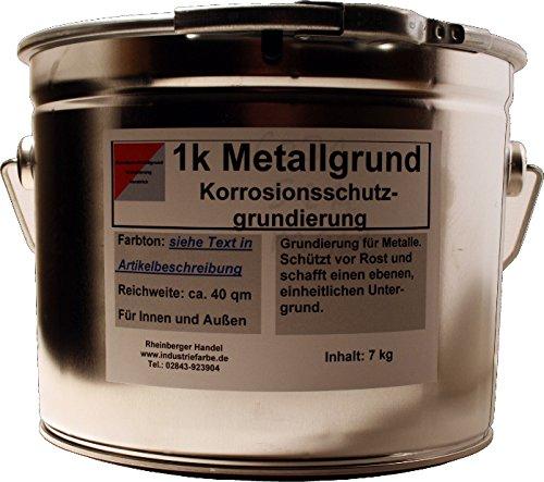 Kunstharz Metallgrund Rostschutz mit Zinkphosphat, Korrosionsschutz, 7 kg Eimer, rotbraun