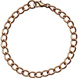 Wide Link Copper Curb Chain Bracelet Necklace Anklet Made in USA (9'''')