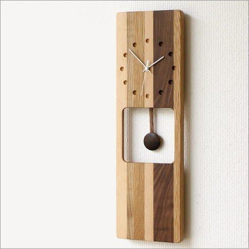 掛け時計 木製 ナチュラル インテリア ウッドウォールクロック オルロージュA [map1615] B01G4UHON0