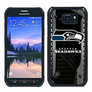 Fashionable S6 Active Case,NFL Seattle Seahawks Black Customized Case For Samsung Galaxy S6 Active Case