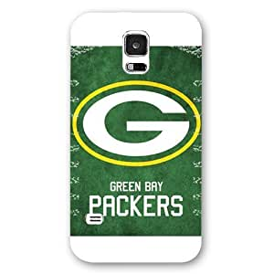 UniqueBox Customized NFL Series Case for Samsung Galaxy S5, NFL Team Green Bay Packers Logo Samsung Galaxy S5 Case, Only Fit for Samsung Galaxy S5 (White Frosted Shell)