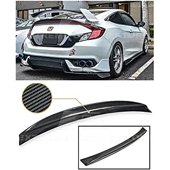 Extreme Online Store for 2016-Present Honda Civic Coupe FK1 FK2 JDM Carbon Fiber Rear Trunk Light Center Add-On Duckbill Lip Wing Spoiler