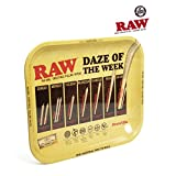 """RAW Daze of The Week Metal Rolling Tray (Large 13.5""""x11"""")"""