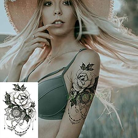 Tatuaje Impermeable de la Etiqueta engomada 4pcs Planta de la Flor ...