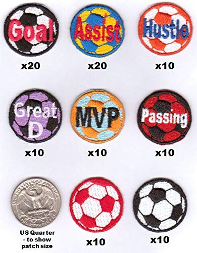- Soccer Coach's Motivational Award Patch Starter Kit - 100 Patches - Each 1-inch