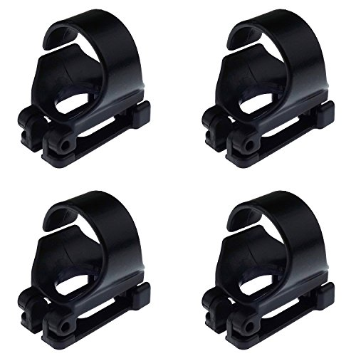 - Kasteco 4 Pack Scuba Dive Universal Plastic Clip Snorkel Keeper Tube Holder, Black