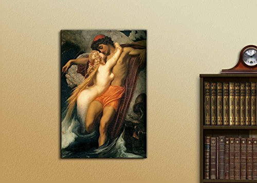 The Fisherman and The Syren by Frederic Leighton Print Famous Painting Reproduction