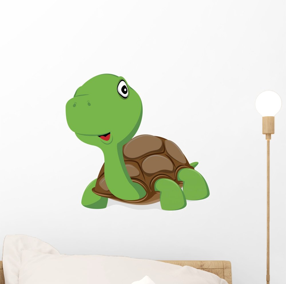 Amazon cute baby turtle wall decal by wallmonkeys peel and cute baby turtle wall decal by wallmonkeys peel and stick graphic 12 in w x amipublicfo Gallery