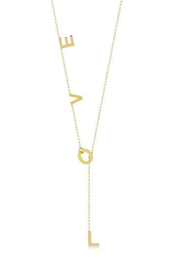 Gelin Damen Halskette aus 14 Karat 585 Echt Gelbgold Kette mit Anhänger mit