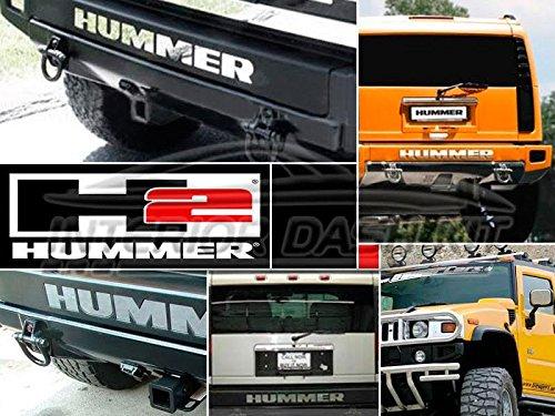 Rear Bumper Emblem (2003 2004 2005 EXTERIOR REAR BUMPER INSERTS LETTERS EMBLEM LOGO TRIM SET FOR HUMMER H2 H-2 H 2)