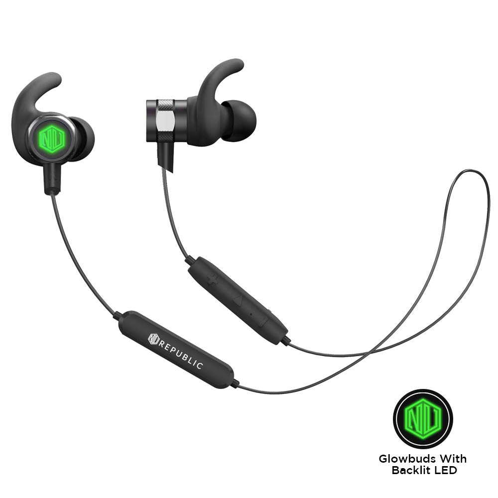 Nu Republic Rouser Wireless Earphones With LED Light, 10Mm