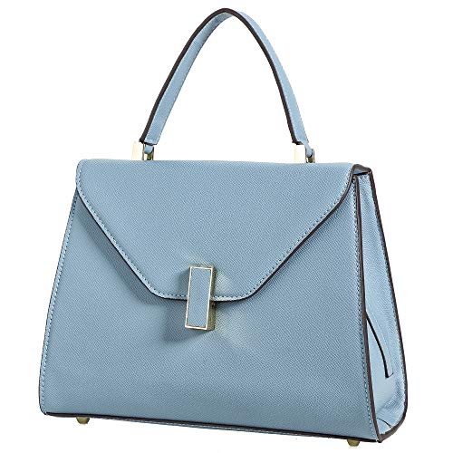 Womens Patent Leather Satchel Handbags (Light Blue-Style3)