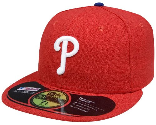 Phillies Mlb Player (MLB Philadelphia Phillies Game AC On Field 59Fifty Fitted Cap-714)