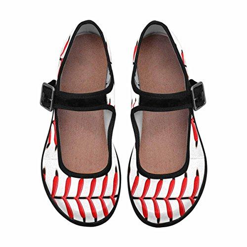 InterestPrint Womens Comfort Mary Jane Flats Casual Walking Shoes Multi 5 HQn6h4hb