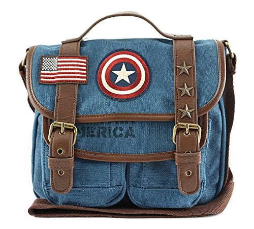 Loungefly-X-Marvel-Captain-America-Canvas-Crossbody-Bag-Blue