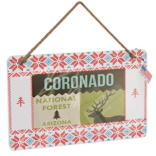 (NEONBLOND Metal Sign National US Forest Coronado National Forest Vintage Christmas Decoration)
