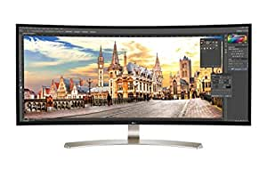 "LG 38UC99 38"" Class 21:9 UltraWide WQHD+ (3840x1600) IPS Curved LED Monitor ,USB C & 3.0 1ms, Motion Blur Reduction International Version"