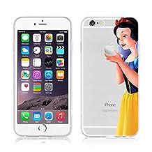 iPhone Cases, Disney Princess Transparent Soft TPU Flexible Protective Case Cover for Apple iPhone 5/5S/5SE, 6/6S, 6+/6+S, 7 & 7 Plus (Apple iPhone 7 Plus, Snow White)