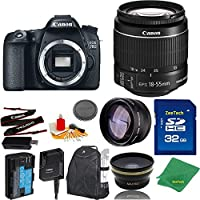 Great Value Bundle for 70D DSLR – 18-55mm STM + 32GB Memory + Wide Angle + Telephoto Lens + Backpack