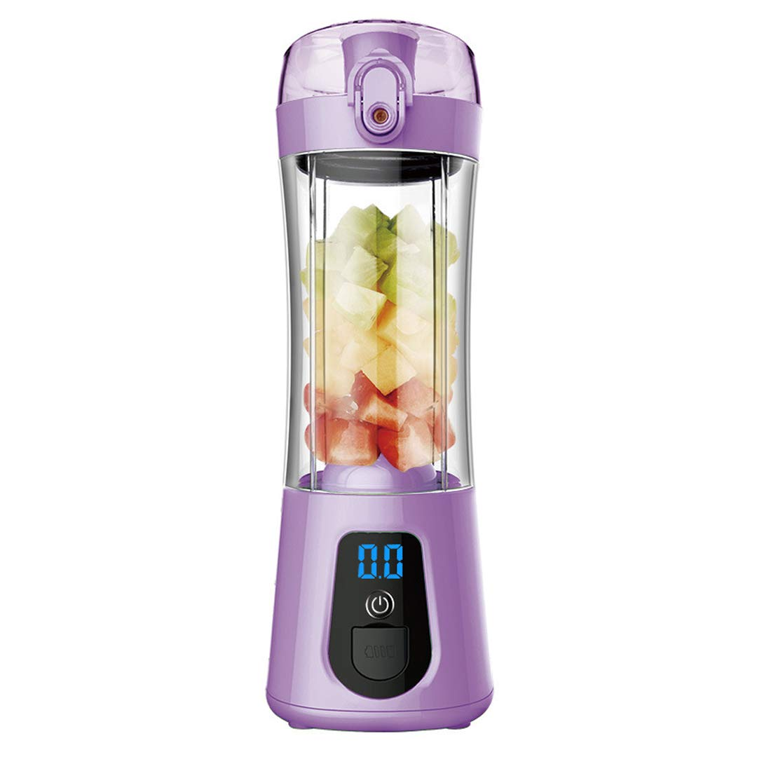 SSCJ USB Juicer Cup Portable Blender Rechargeable Three Blades in 3D, Fruit Mixing Machine with USB Charger Cable for 380ml Fruit Mixing Machine with USB Cable,Purple
