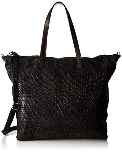 Chicca Borse 80058 - Bolsos bandolera Mujer Negro (Nero)