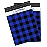 Inspired Mailers Poly Mailers 10x13 Blue Plaid Flannel - Pack of 100 - Unpadded Shipping Bags
