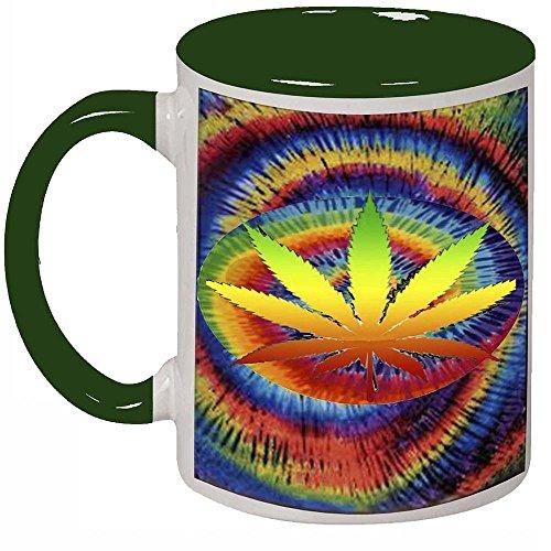 Tie Dye Weed Colorful Coffee Tea Mug Cup 11 oz by Future Sales Inc
