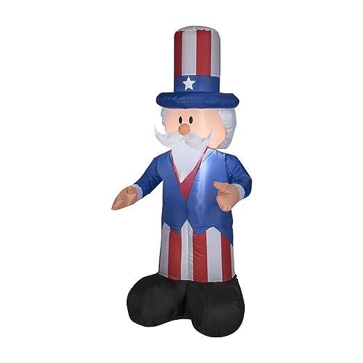 Gemmy Airblown hinchable patriótica tío Sam con sombrero de ...