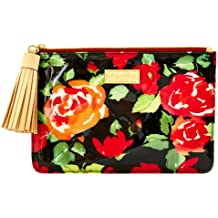 Dooney & Bourke Women's Plastic Rose Tassel Cosmetic Pouch Black w/ Nat Trim