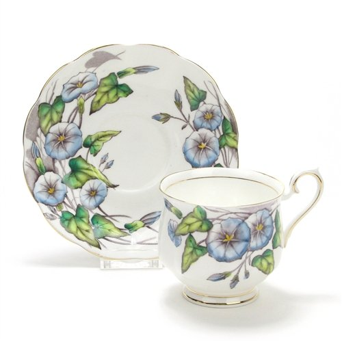 Flower of the Month by Royal Albert, China Cup & Saucer (Royal Albert Flower Of The Month Tea Cups)