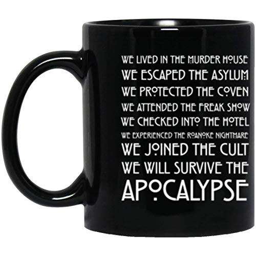 Gift For American Horror Story Lover, 11 Ounces Coffee Mug - American Horror - We Lived In The Murder House Mug - Funny Halloween Gift Mug -