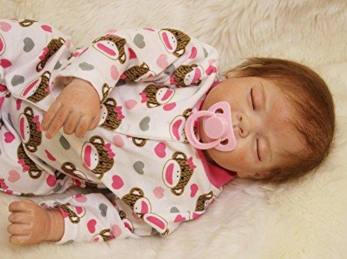 compra en línea hoy OUBL 22pulgadas 22pulgadas 22pulgadas 55 cm muñecas Reborn niña Realista Bebe Ojos Cerrados Baby Magnetismo Doll Silicona Vinilo Toddler Juguetes Regalos  tienda de venta
