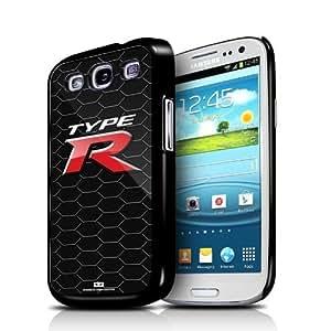 Honda Type-R Honeycomb Samsung Galaxy S3 Black Cell Phone Case