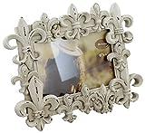 Rustic Fleur-de-lis Weathered Look Picture Frame 4'' X 6'' - Chalk Paint Finish