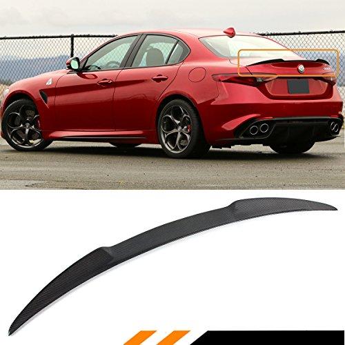 - Cuztom Tuning FITS for 2017-2018 ALFA Romeo Giulia QUADRIFOGLIO VQ Style Carbon Fiber Trunk LID Spoiler Wing